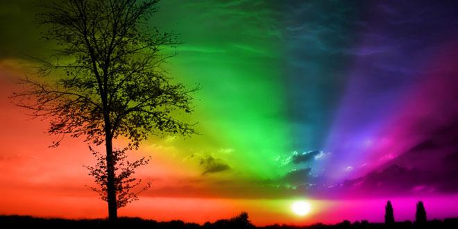 Arcoiris en campo Gloria de Dios