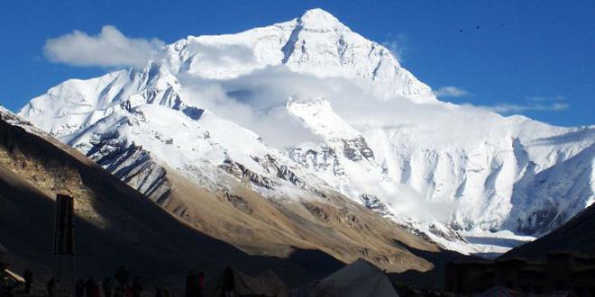 Campamentos en la base del Everest