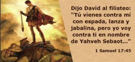 David vencio a Goliat y cita Biblica