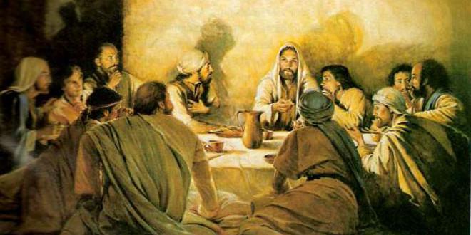 Jesús conversando con sus discípulos