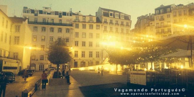 Lisboa - Hermosa foto plaza al atardecer