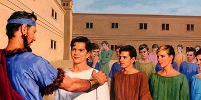Daniel inspeccionado en la corte del Rey